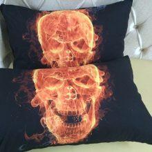 3D Skull Pattern Polyester Bedding Set