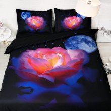3D Floral Pattern Cotton Bedding Set