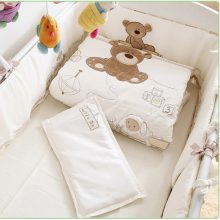 Teddy Bear Embroidery Crib Bedding Set