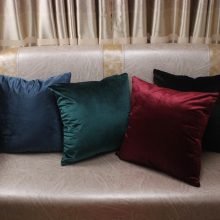 Luxury Colored Velvet Pillow Cover
