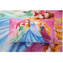 Disney Cartoon Princess Kids Girls Bedding Set Duvet Cover Bed Sheet Pillow Cases Twin Single Size 3 Pieces Drop Shipping