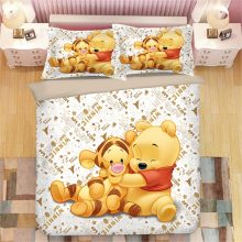 tigger Winnie the Pooh bedding set twin size duvet cover for kids bedroom decora boys double bed set single queen king bedspread