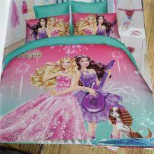 Disney Barbie Princess bedding set twin size bed sheets for girls bedroom decor kids quilt duvet covers 3-4 pcs 3d printed Child