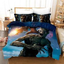 3D Marvel Guardians of the Galaxy Film Groot Bedding set Twin Size Quilt Duvet Cover Queen Bedspread for Kids Bedroom Decor 3pcs