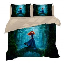 Disney Merida Princess Bedding set Twin Size Quilt Duvet Covers for Girls Bedroom Decor Full Coverlets King Home Textile Queen