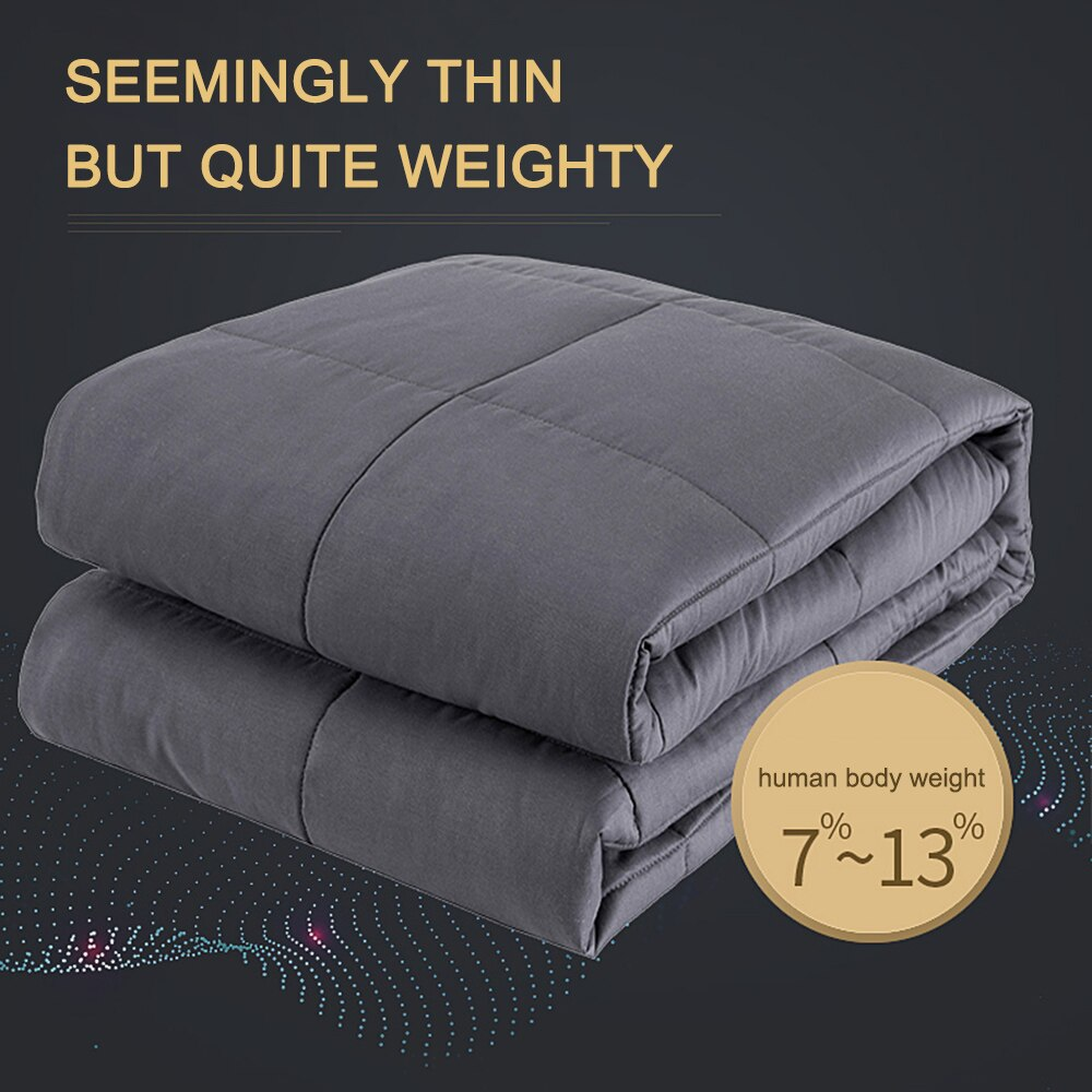 120*180cm/150*200cm 15 lbs Heavy Weighted Blanket Premium Cotton Blanket for Adults Weighted Blanket Glass Beads