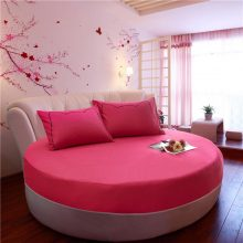100% Cotton Round Fitted Sheet Romantic Solid Color Round Bed Sheet Bedding Set Mattress Cover Topper 200cm 220cm Themed Hotel