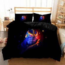 Spiderman 3D Printed bedding set The Avengers Duvet Covers Pillowcases Marvel Iron Man Thor Captain America bedclothes bed linen