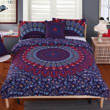 BeddingOutlet Mandala Bedding Set Queen Size Purple Concealed Bohemian Bedspread Duvet Cover Set 4Pcs Boho Home Textiles Fashion