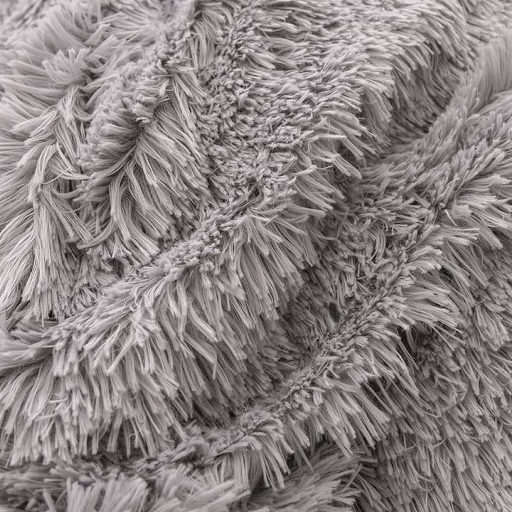 gray fleece bed sheets queen