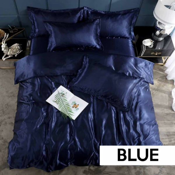 where to buy blue satin silk sheets online