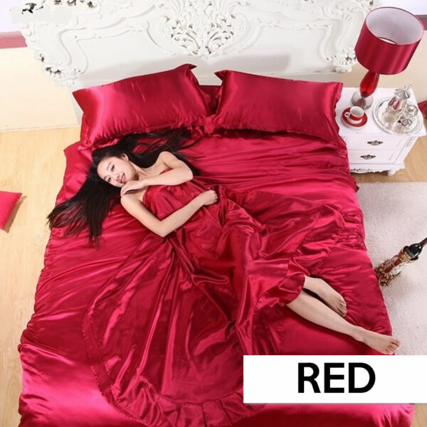 where to buy red satin silk sheets online
