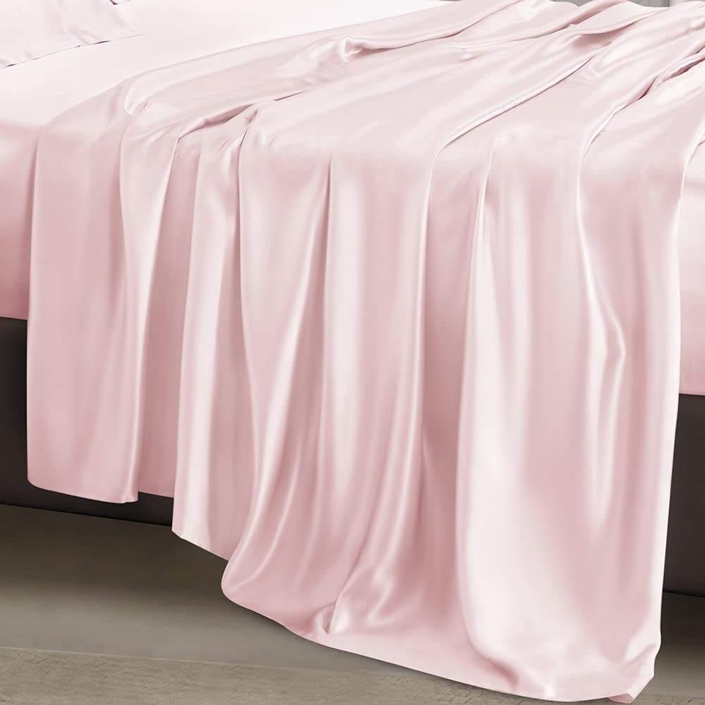 buy pink luxury bed sheet
