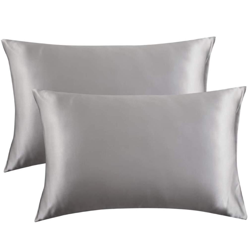 buy silver satin pillowcase