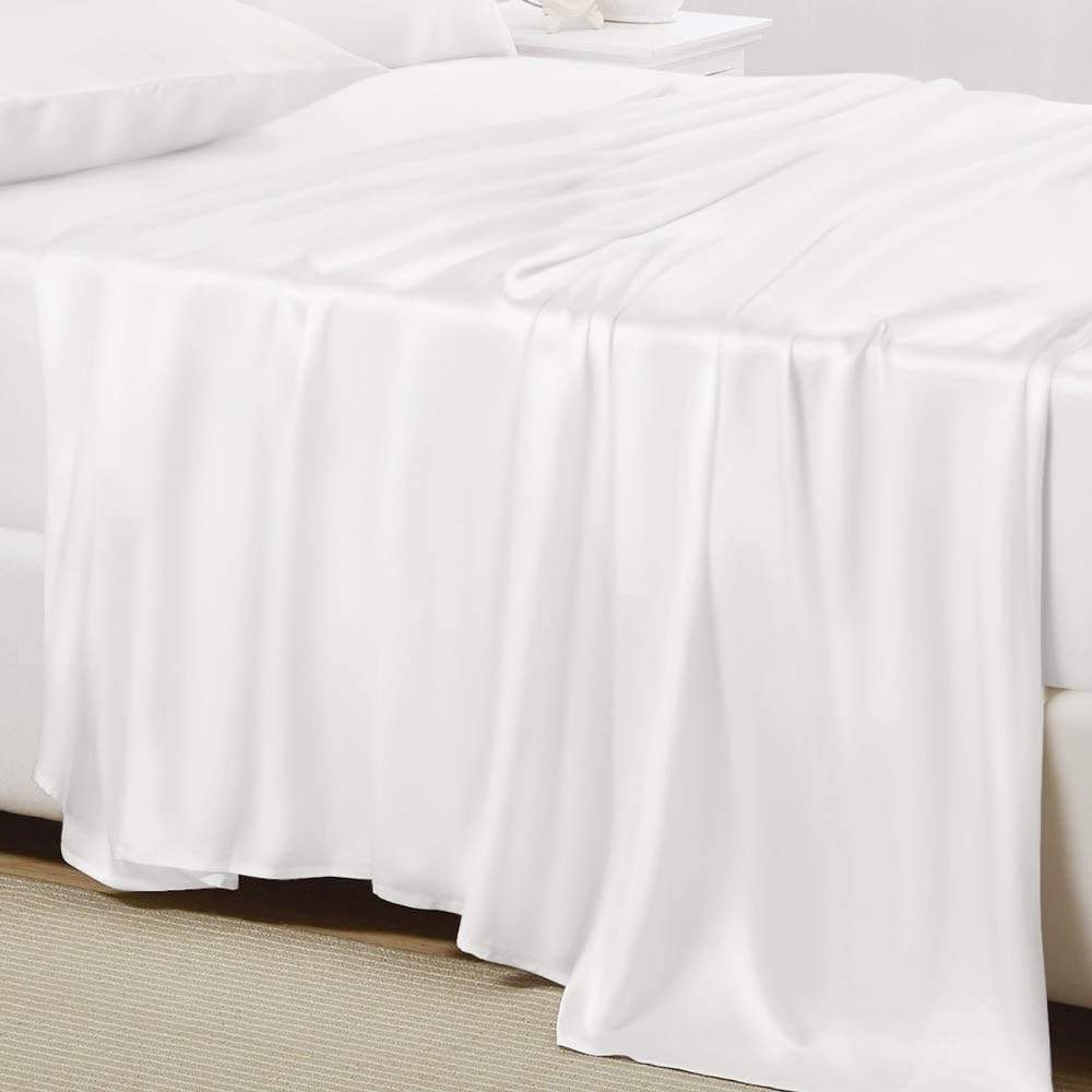 buy white mulberry bed sheet